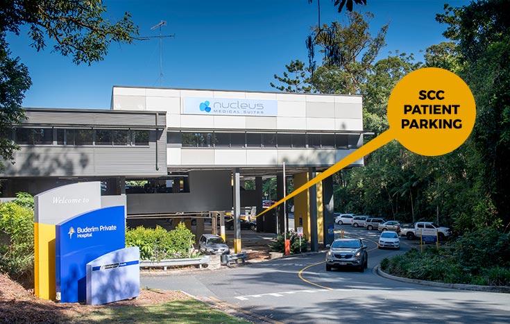 Sunshine Coast Cardiology Nucleus Medical Suites parking entrance